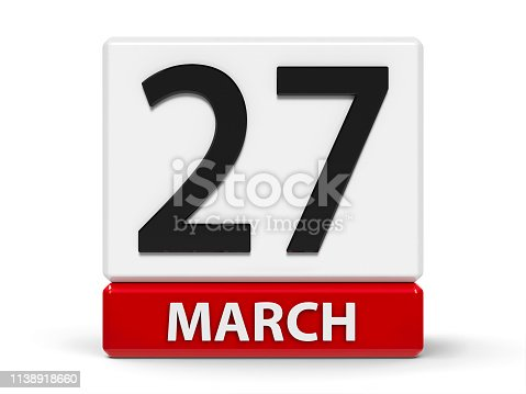 istock Cubes calendar 27th March 1138918660