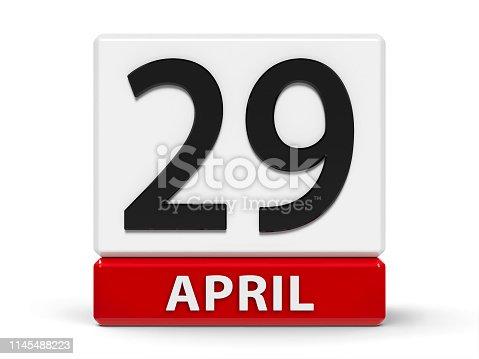 istock Cubes calendar 29th April 1145488223