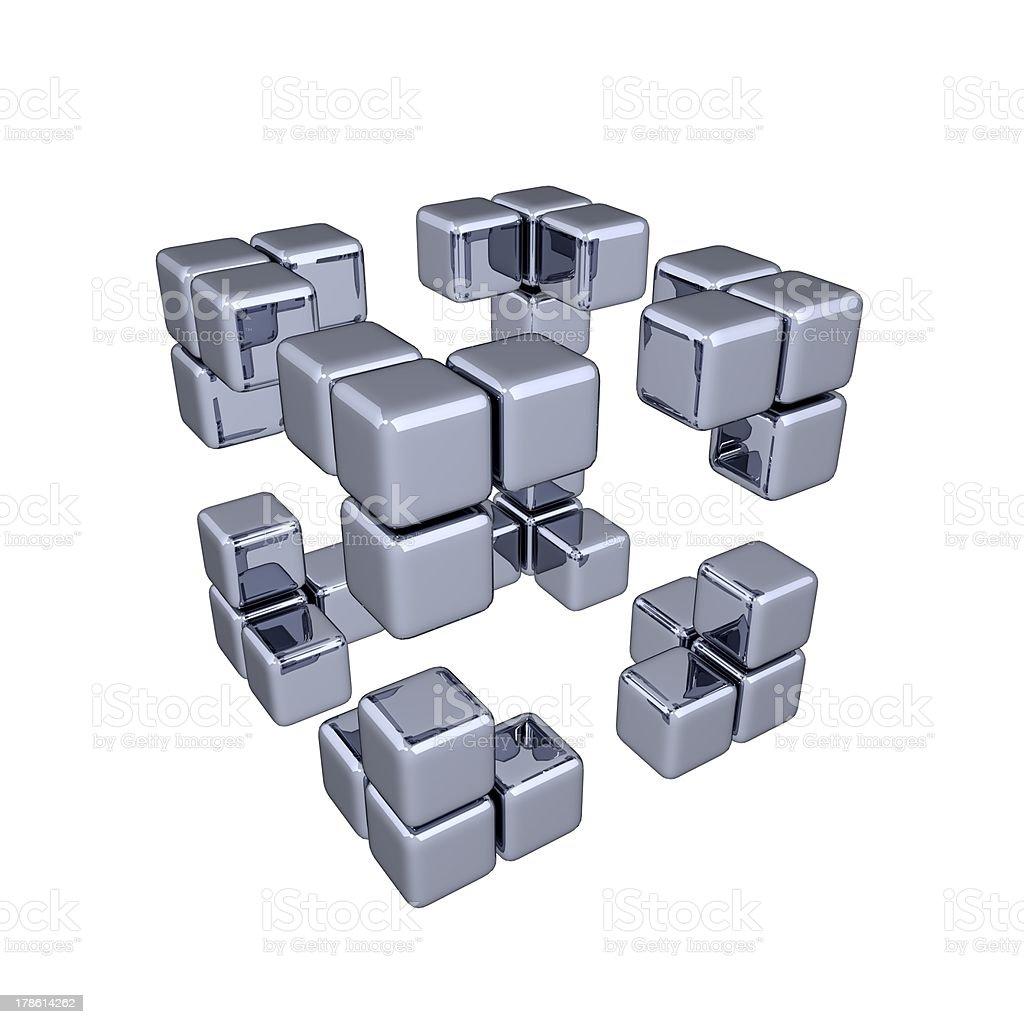 3D Cubes - Corners stock photo