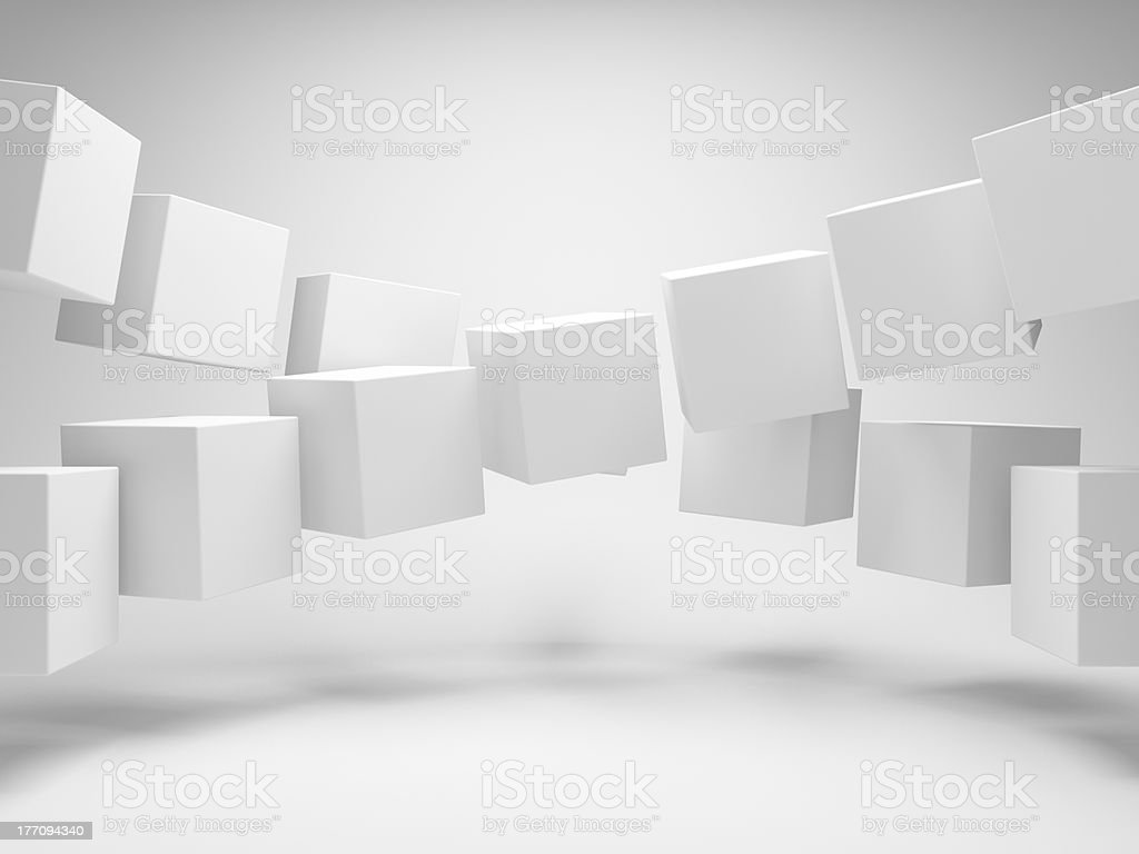 Cubes in a row royalty-free stock photo