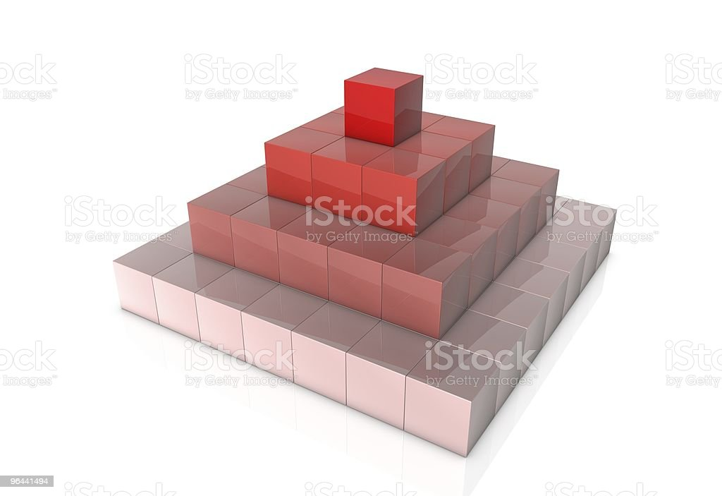 cubes in pyramid - Royalty-free Bontgekleurd Stockfoto