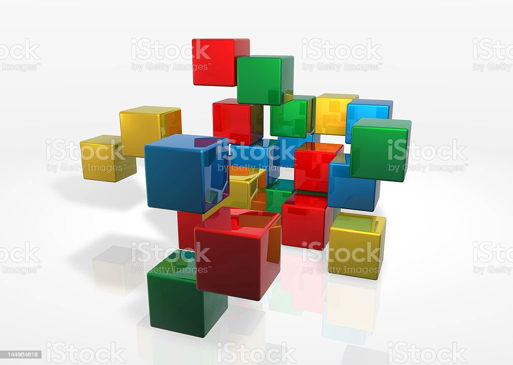 Cubes Massive Attack royalty-free stock photo