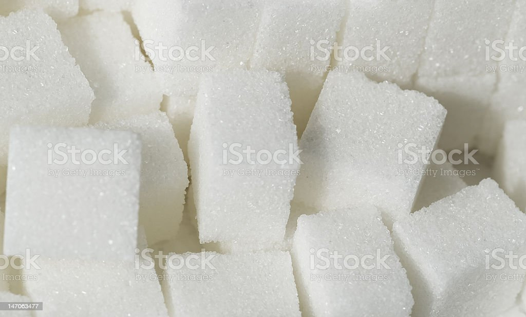 Cubes of sugar stock photo