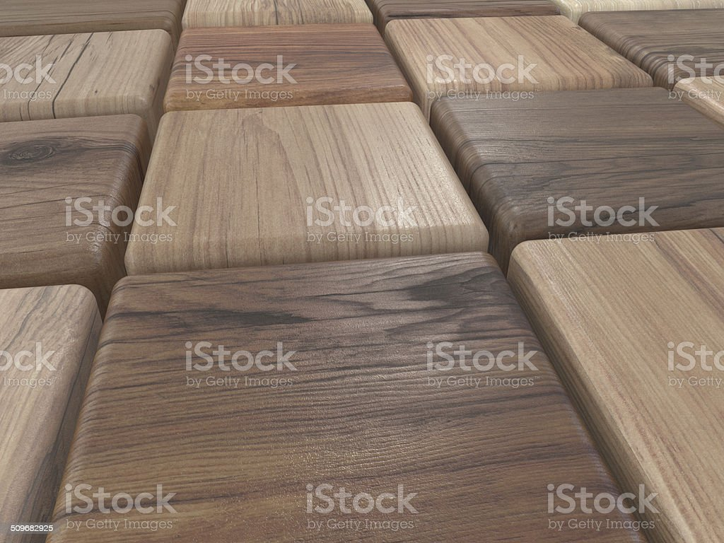 cubes of wood or parquet samples stock photo