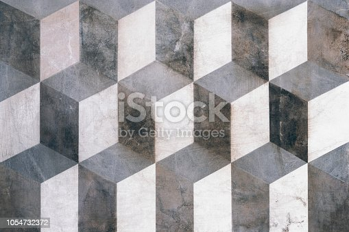 istock Cubes on background, three dimensional effect 1054732372