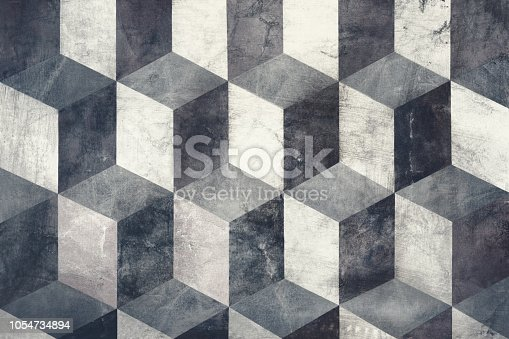 istock Cubes on background, three dimensional effect 1054734894