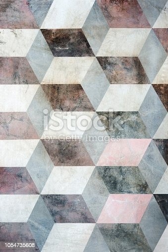 istock Cubes on background, three dimensional effect 1054735608