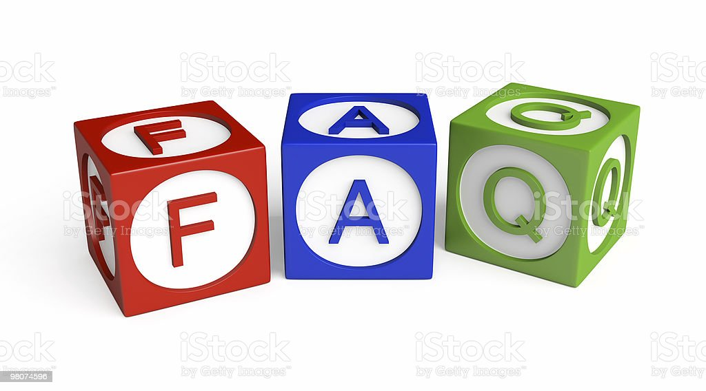 FAQ Cubes royalty-free stock photo