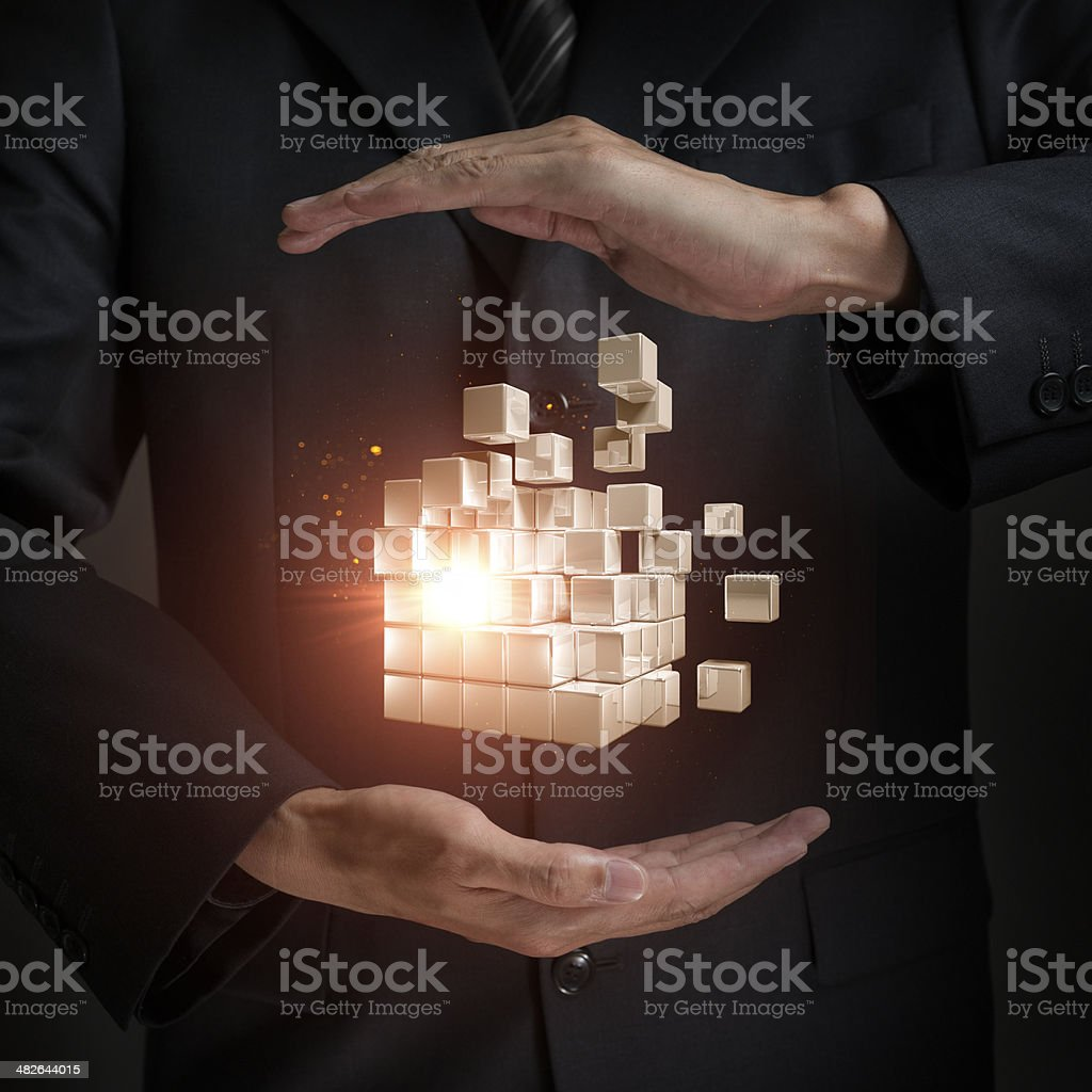 Cubes Transform royalty-free stock photo