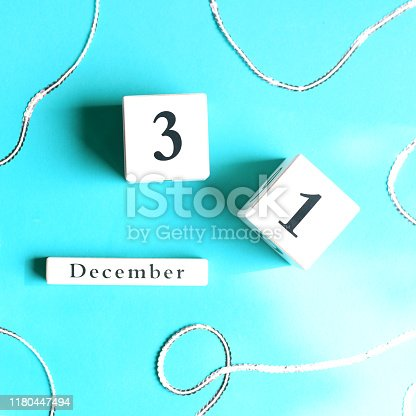 istock Cubes with a festive date on December 31th. 1180447494