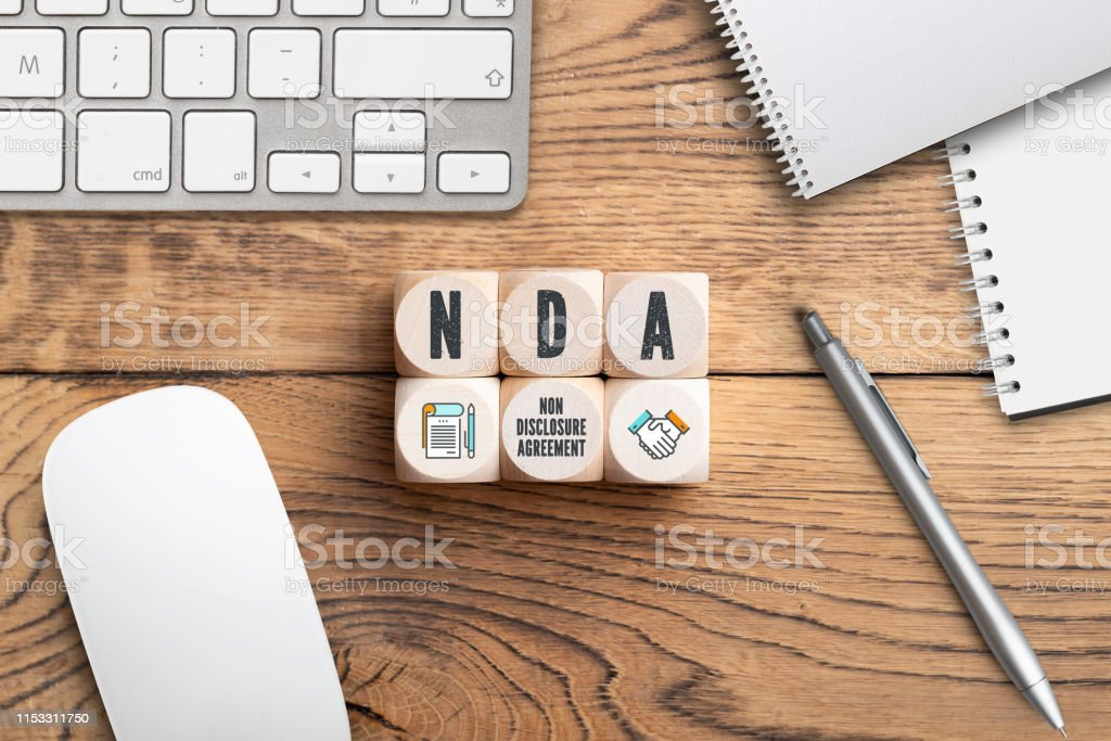 Cubes With Acronym Nda For Non Disclosure Agreement Stock