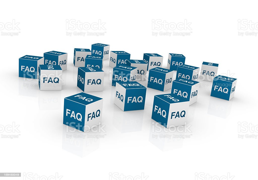 Cubes with FAQ royalty-free stock photo