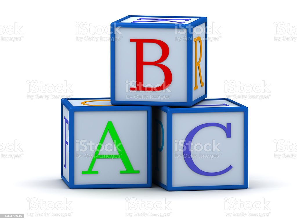 Cubes with letters ABC royalty-free stock photo