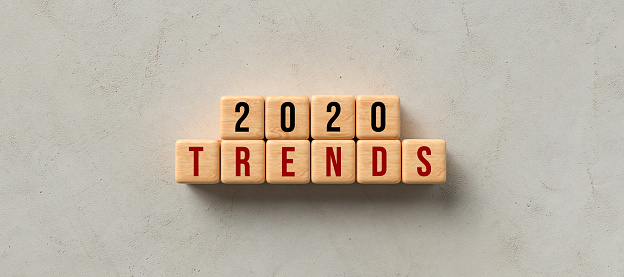 1163501702 istock photo cubes with message 2020 TRENDS - 3d illustration 1256789897