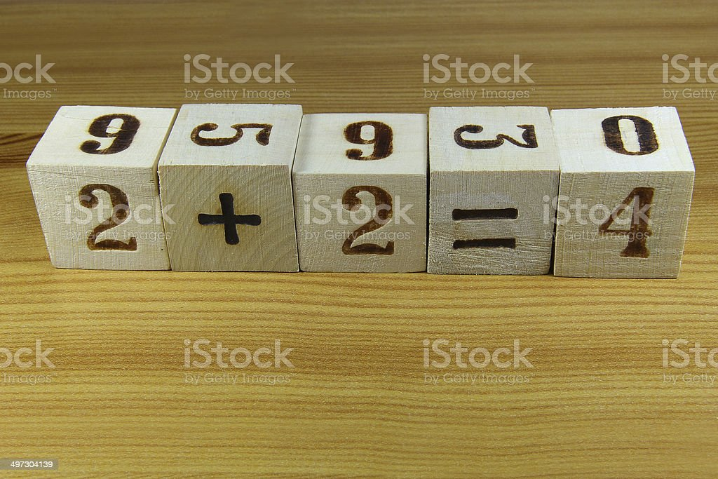 Cubes with numbers stock photo