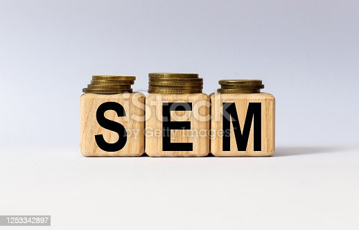 947260978 istock photo cubes with the word SEM on them. Care concept. 1253342897