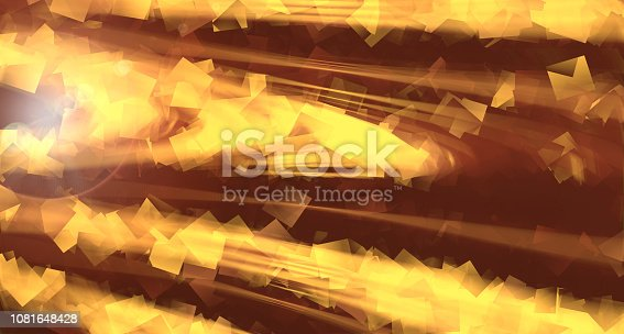 istock Cubic abstraction - flying geometry shapes background, computer generated illustration, 3d render 1081648428