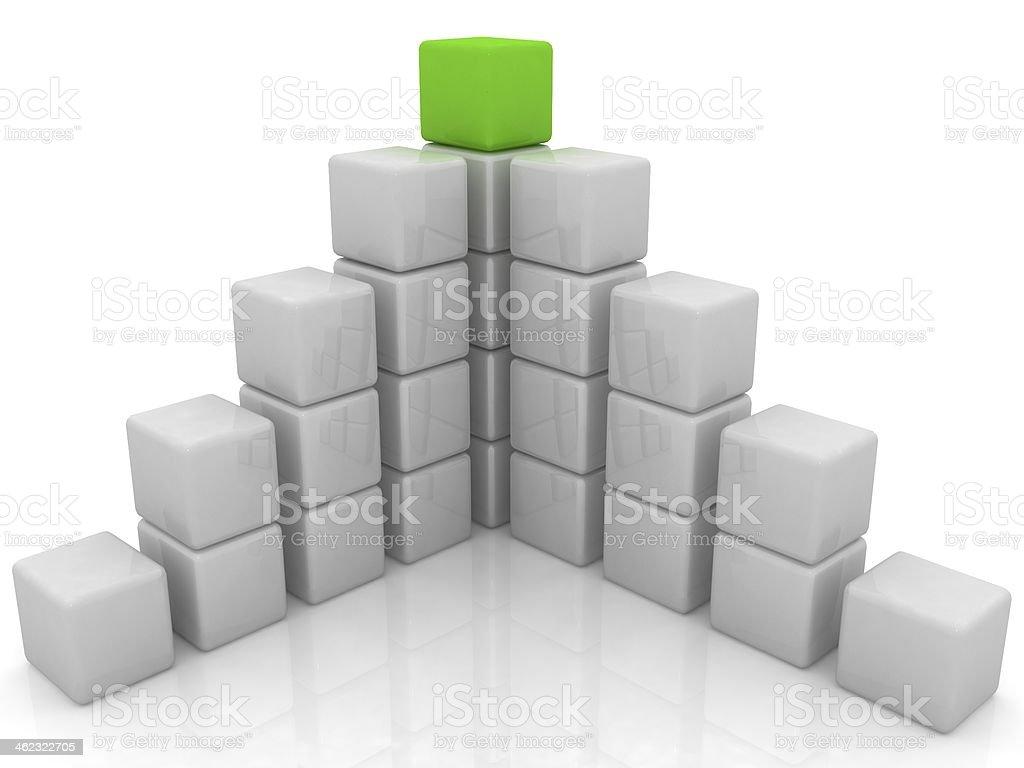 cubic diagram structure stock photo
