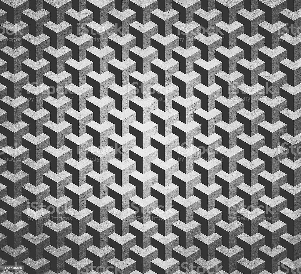 cubic grunge pattern royalty-free stock photo