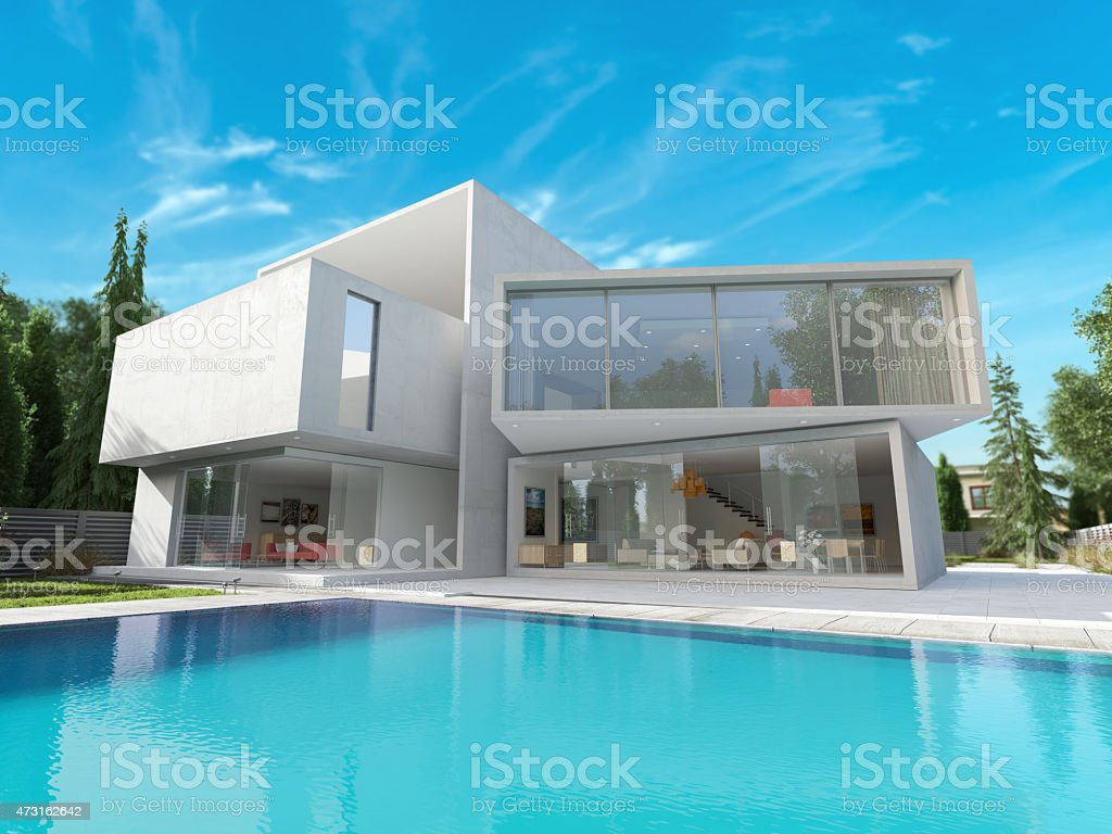Cubic mansion stock photo
