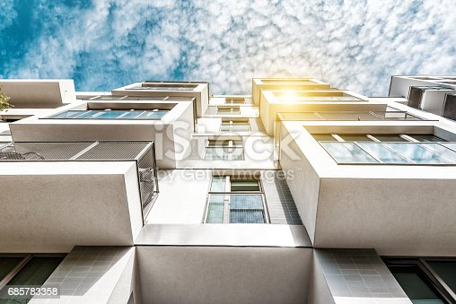 berlin, germany, architecture, residential, new, bauhaus, tree, summer,
