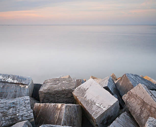 Cubic rocks stock photo