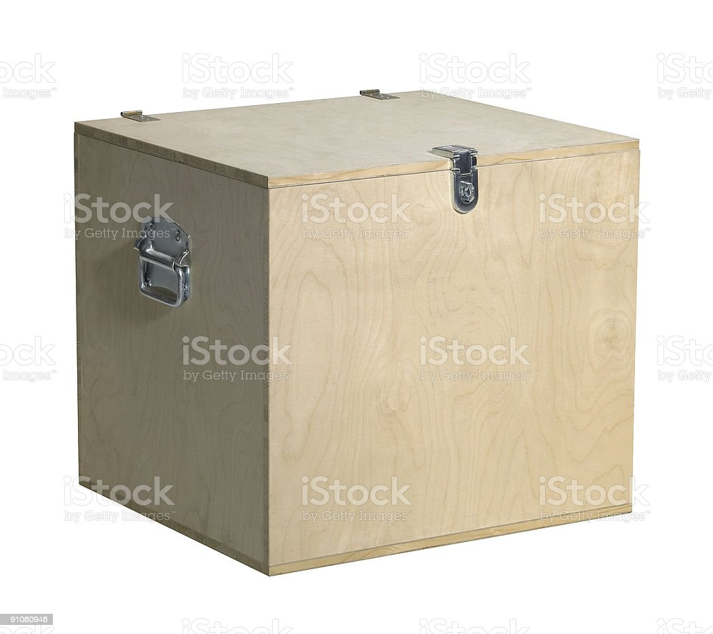 cubic wooden box royalty-free stock photo