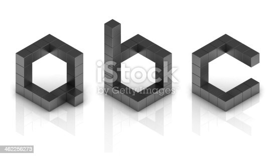 istock cubical 3d font letters a b c 462256273