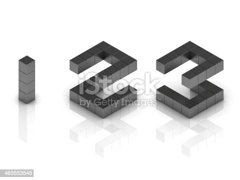 istock cubical 3d font numbers 1 2 3 463553545