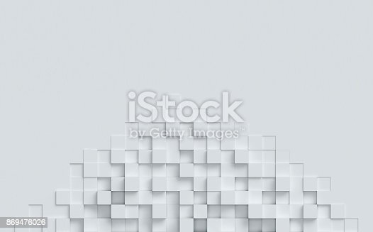 869478294 istock photo cubical abstract background 3d rendering 869476026