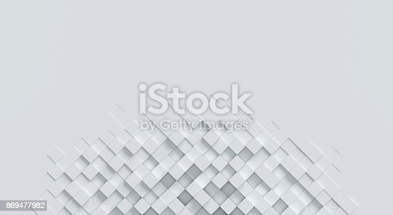 869478294 istock photo cubical abstract background 3d rendering 869477982