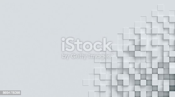 istock cubical abstract background 3d rendering 869478098
