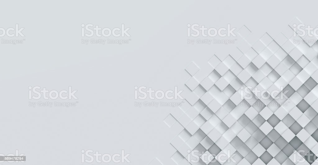 cubical abstract background 3d rendering - foto stock