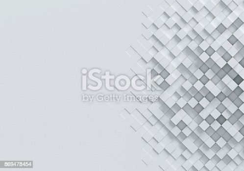 istock cubical abstract background 3d rendering 869478454