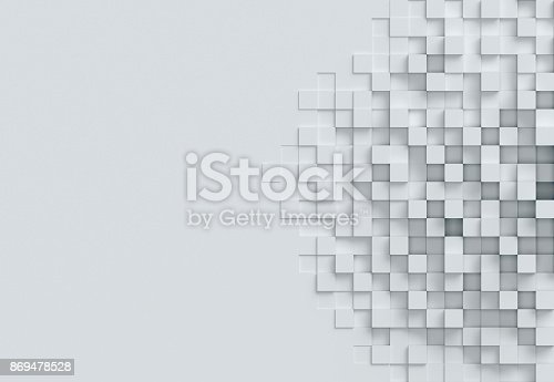869478294 istock photo cubical abstract background 3d rendering 869478528