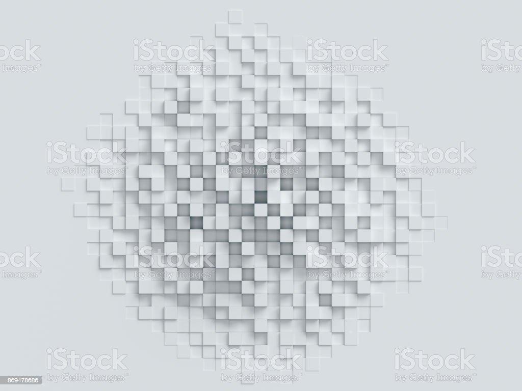 cúbico abstrato renderização em 3d - foto de acervo