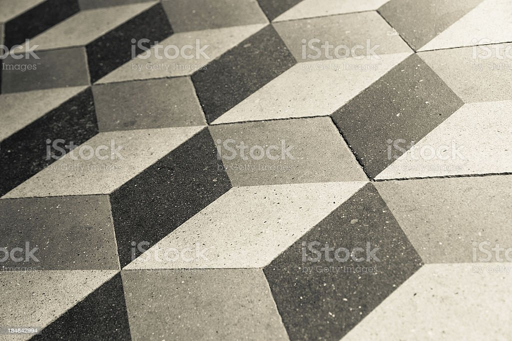 Cubical floor royalty-free stock photo