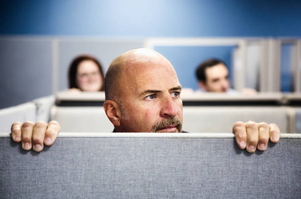 cubicle curiosity - office cubicle stock pictures, royalty-free photos & images
