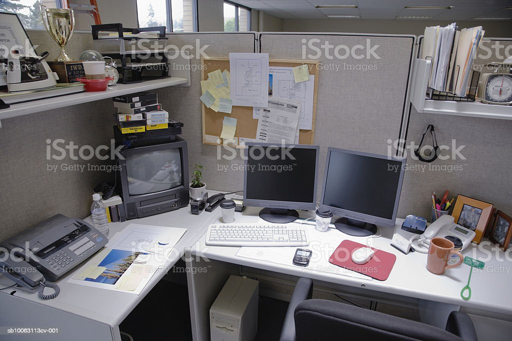 Cubicle, elevated view foto royalty-free