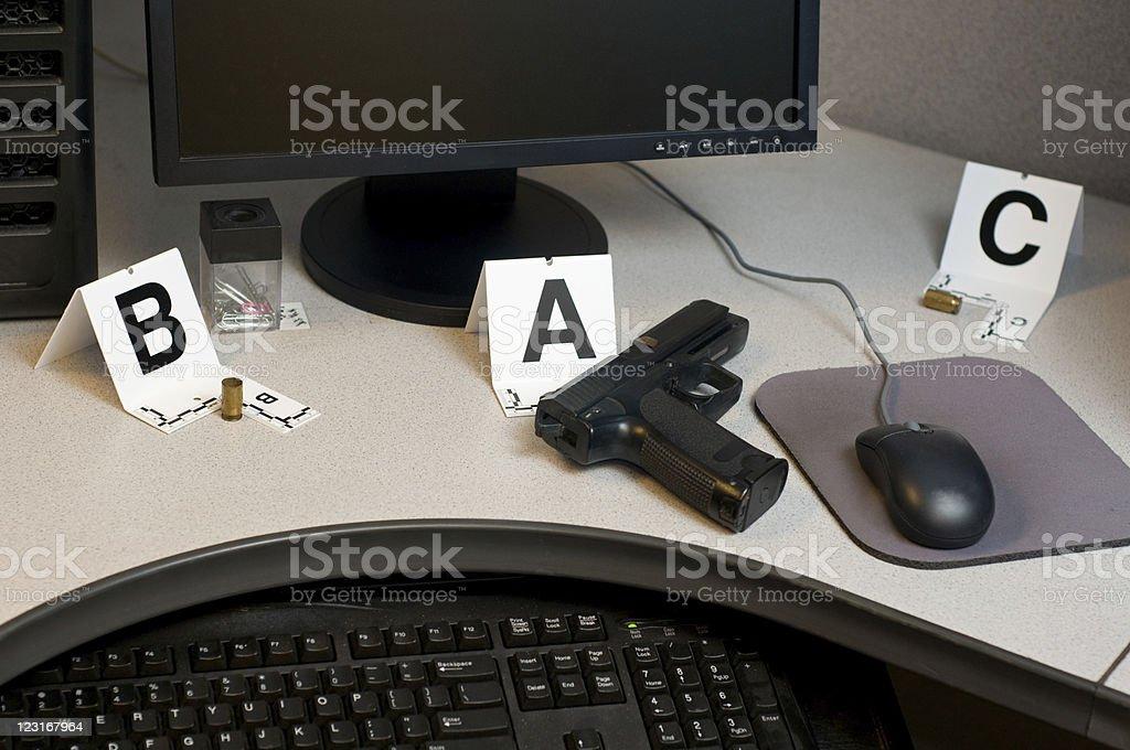 Cubicle Handgun stock photo