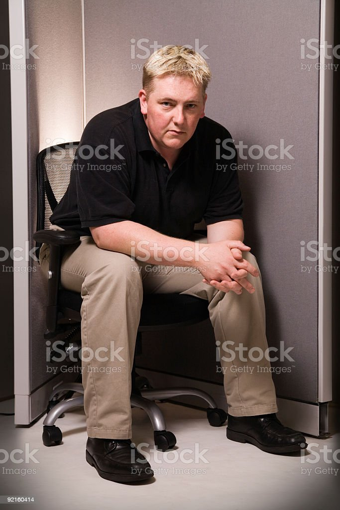 Cubicle Stare royalty-free stock photo