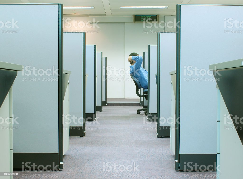 cubicles - office series 2 stock photo