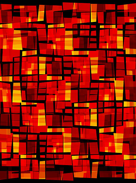 cubist red texture created in Illustrator stock photo