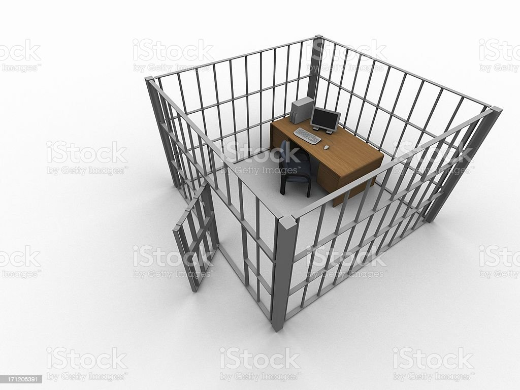Cublicle Prison 2 royalty-free stock photo