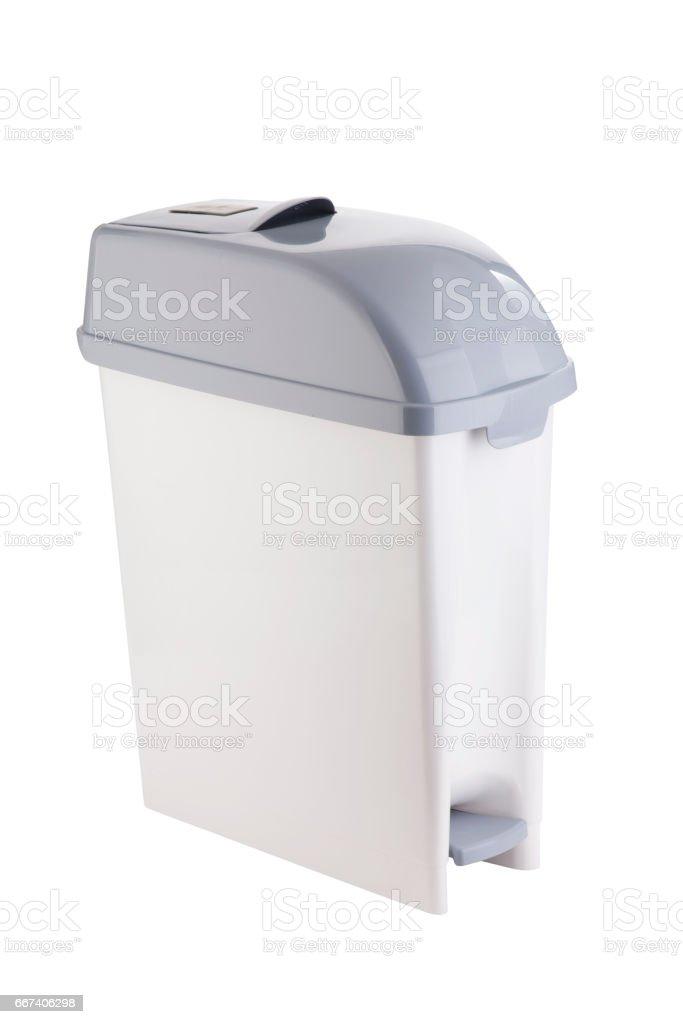 Cubo de basura cerrado. stock photo