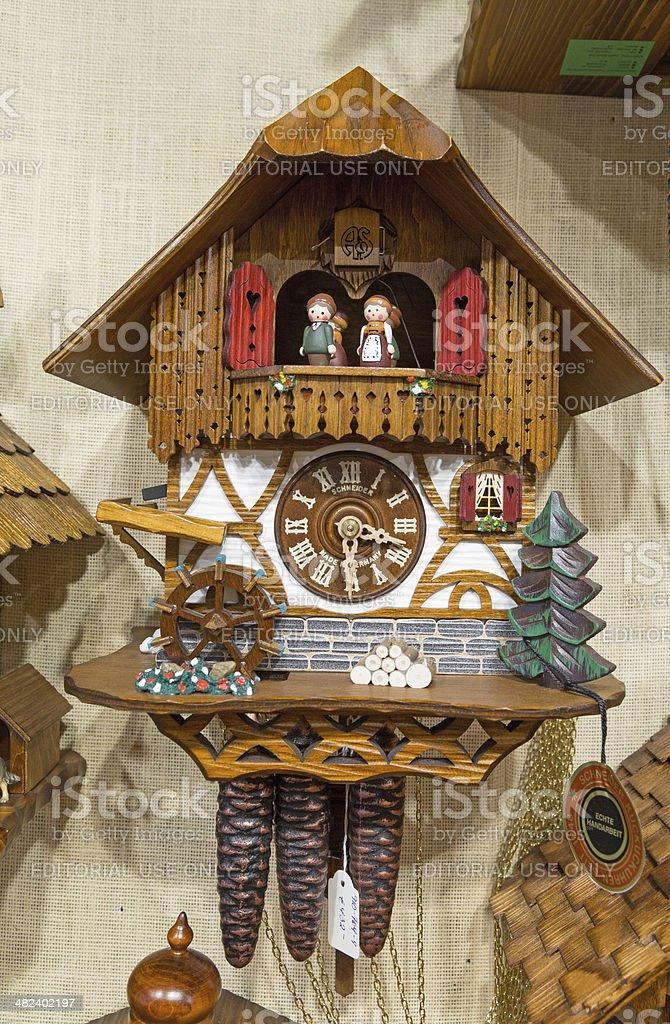 cuckoo clock for sale stock photo