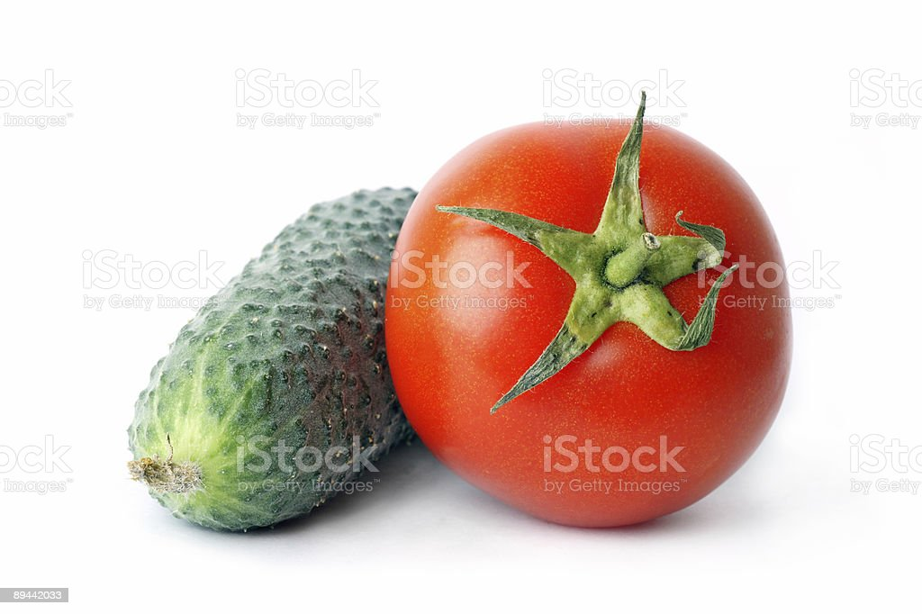 Cucumber and tomato royalty-free stock photo