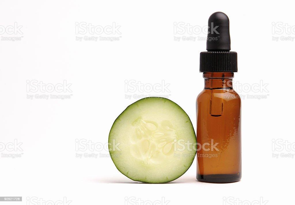 Cucumber Aromatherapy stock photo