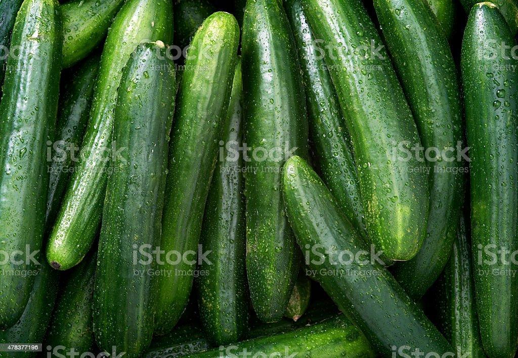 Cucumber background stock photo