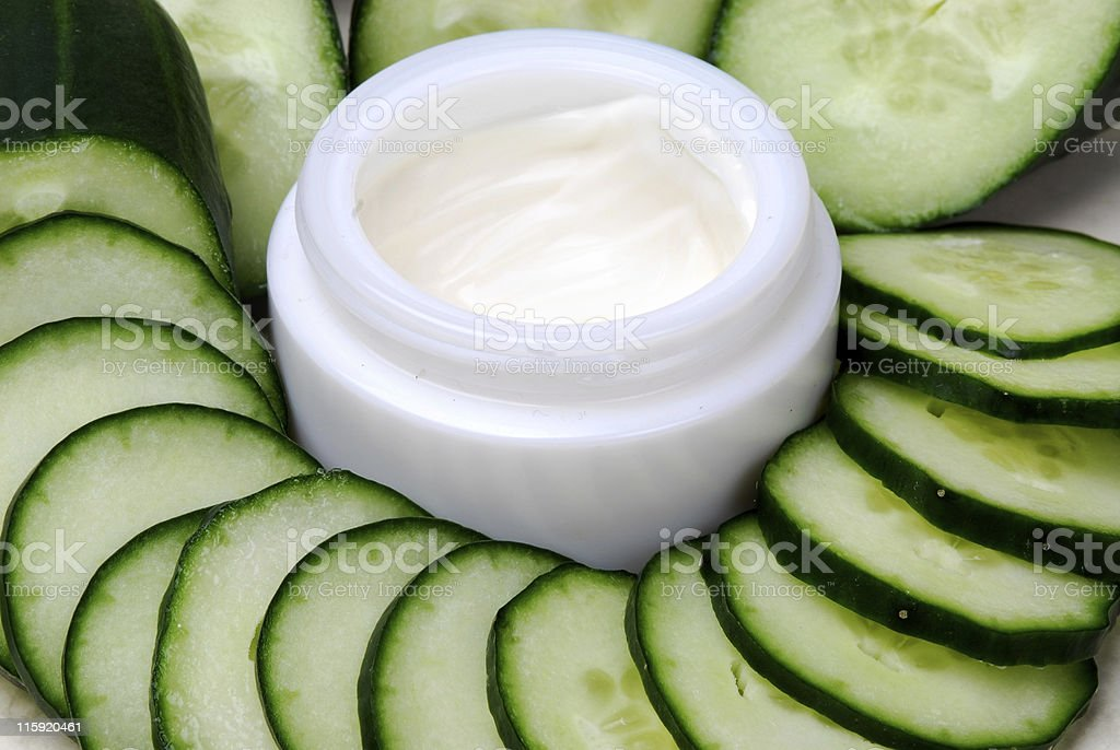 cucumber daycreme royalty-free stock photo
